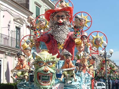 Floats at Carnival Acireale